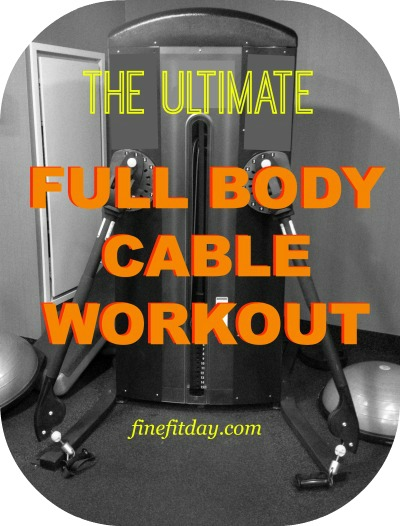 Full Body Cable Workout - Get your whole workout done using just the cable machine! #workout #sweatpink #fitfluential
