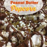 Chocolate Peanut Butter Popcorn. Three delicious foods combined for one decadent snack! Salty sweet and surprisingly quick and easy to make.
