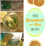 Grapefruit Mint Faux-Mojito A delicious cocktail when you're craving a mojito! Non-alcoholic and so refreshing! It's a little piece of summer in a glass.