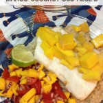 Easy Meals: Mango Coconut Cod Recipe. Looking for a delicious and quick dinner idea you can prep and cook within 30 minutes? Try this delicious fish recipe, with a Thai twist. A healthy recipe that tastes amazing!